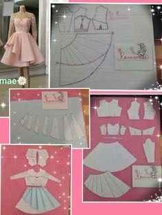 sew sewing pattern sewinglife dressmaker terzi… HowToSewAGown - Her Crochet Dress Making Patterns, Skirt Patterns Sewing, Sewing Patterns Free, Pattern Making, Clothing Patterns, Frock Patterns, Free Pattern, Barbie Clothes, Sewing Clothes