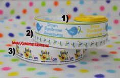 3 yards Down Syndrome Awareness   7/8 inch or 1 by PompousChic