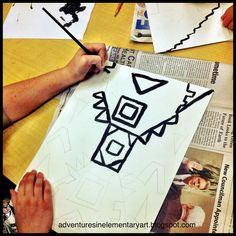 Adventures in Elementary Art!: Symmetry, Color Mixing, and Ndebele Art- 5th Grade