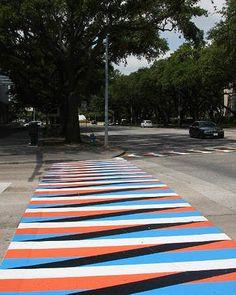 Crosswalks by Carlos Cruz-Diez