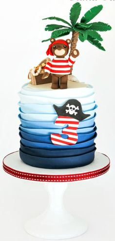 Little Pirate Bear Cake
