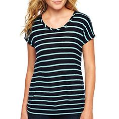 jcp™ Drop-Sleeve Tee - jcpenney $7.99