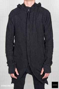 Boris Bidjan Saberi BBS ZIPPER3-F0997 585 € | Seven Shop Man Style, Hooded Jacket, Fall Winter, Men Casual, Mens Fashion, Jackets, Shopping, Black, Fashion Styles