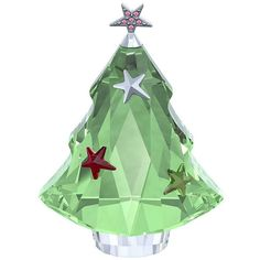 SWAROVSKI Green Swarovski® Crystal Christmas Tree Décor (£66) ❤ liked on Polyvore featuring home, home decor, holiday decorations, holiday decor, green home decor and holiday home decor