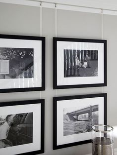 Photo Gallery Convert photos you want to group on a wall to black and white or sepia tone. They'll look more artistic and cohesive