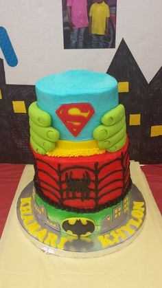 Superhero cake #superhero #cake