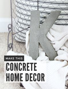 Everything you need to make #monogram concrete #decor