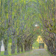Avenue in the Park of the Schloss Kammer by Gustav Klimpt...one of my most favorite painters!