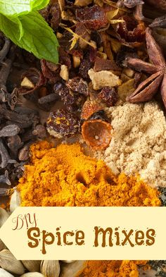 DIY Spice Mixes -Whether you are just learning to cook or even a chef, using spices to enhance a meal will help to make it a hit. These DIY spice mixes will