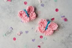 This crochet butterfly pattern makes the cutest and easiest butterflies for you to adorn your next scarf or baby blanket with!