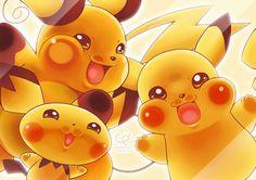 Pikachu! I See You!!! by CHOBI-PHO.deviantart.com on @DeviantArt (Pichu and Raichu)