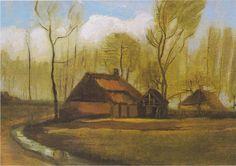 Van Gogh - Bauernhaus zwischen Bäumen, 1883