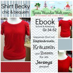 Ebook | Shirt Becky | Gr.34-52 von GretaWunderWelt auf DaWanda.com