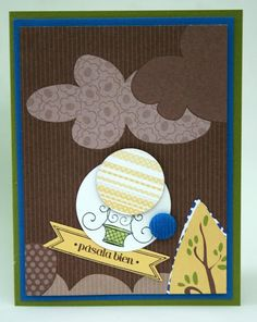 Masculine bithday card with verve stamps and stampin up accesories