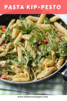 We wonder why we have never had pasta with chicken-pesto sauce before . I Love Food, A Food, Good Food, Chef Food, Pasta Recipes, Dinner Recipes, Lasagne Recipes, Food Porn, Pesto Chicken