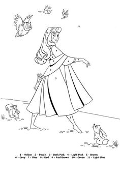 Color By Number Coloring Page Disney Color Number Coloring