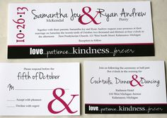 Custom Wedding Invitation Suite for the Fun at Heart