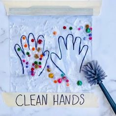 Likes, 309 Comments - Myriam Sandler Healthy Crafts For Preschool, Preschool Crafts, Crafts For Kids, Fun Crafts, Easter Activities, Infant Activities, Activities For Kids, Sensory Activities, Germs For Kids