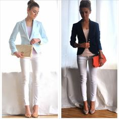 White skinny jeans style