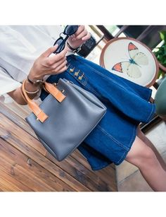 CheapestLeisure Retro Simple All Match Hit Color Inclined Shoulder Bag  Handbags Grey 1a87240da0271