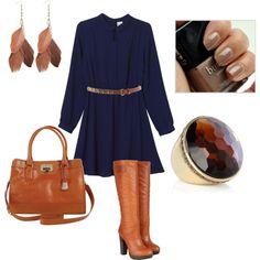 I'm dying for this. All of this..  Navy with brown accessories. Nothing better than that!