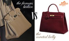 Hermes Birkin bag vs Hermes Kelly bag - www.myLusciousLife.comp