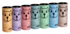 Dog treat packaging design by london based design agency Pooch & Mutt, specialists in packaging design for the pet industry Horse Treats, Pet Treats, Dog Treat Packaging, Puppy Food, Pet Food, Dog Bakery, Dog Branding, Dog Cookies, Food Packaging Design