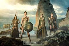 Gal Gadot as Wonder Woman and the Amazonians by Artlover67