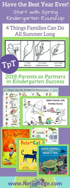 Bring Planning and Passion to Kindergarten Round-Up. These 4 TpT resources help families have the BEST spring registration—and the best year EVER! We promise! Kindergarten Round-Up (Spring Registration) is the golden opportunity to motivate parents to become partners in their child's kindergarten success. Parents deserve to know how to support their child's success in kindergarten literacy. | Parents as Partners; Nellie Edge Kindergarten; Kindergarten Round Up Spring Registration; Mother…