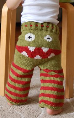 Baby bottom yarn bombing... This would be so easy to do in Knit or Crochet