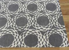 Moorish Gray Handmade Persian Style Woolen Area Rug