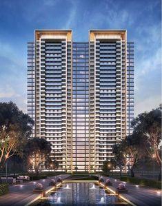 Condominium Architecture, Futuristic Architecture, Facade Architecture, Residential Architecture, Unique Architecture, Home Building Design, Building Exterior, Modern Buildings, Future Buildings