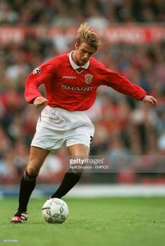 Manchester United's David Beckham Get premium, high resolution news photos at Getty Images David Beckham Football, Manchester United, The Unit, Running, Collection, Man United, Keep Running, Why I Run