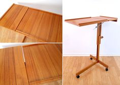 Danish Modern Teak Side Table Laptop / Reading por ObjectOfBeauty