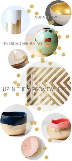 golden ceramics
