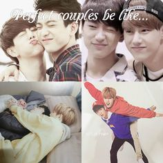 The perfect couple life!!! #Markjin
