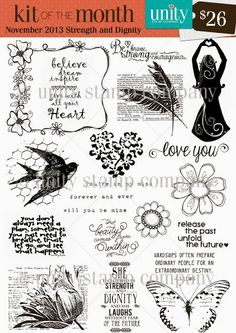 Unity Stamp Co. - Kit of the Month - November 2013 - {Strength & Dignity} Sign Up Here ----------> http://unitystampco.com/shop/kit-of-the-month/