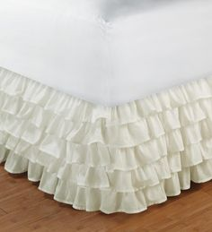 Multi-Layered Cotton Ruffle Bed Skirt