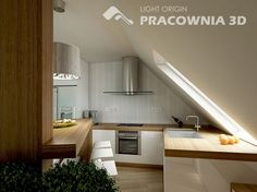 Ideas for small space living - attic-kitchen