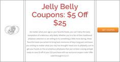 Jelly Belly Coupons: $5 Off $25  Brought to you by http://www.imin.com and http://www.imin.com/store-coupons/jelly-belly