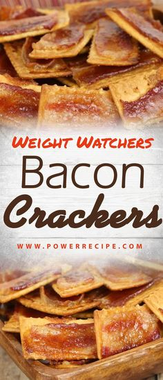 Bacon Cracker - All about your power recipes - Best Liver Detox Cleanse Bacon Crackers Recipe, Butter Crackers, Ww Recipes, Baking Recipes, Healthy Recipes, Skinny Recipes, Pork Recipes, Healthy Food