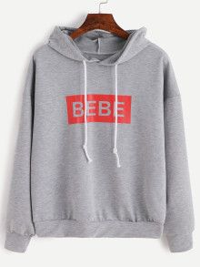 SheIn offers Grey Letter Print Hooded Sweatshirt & more to fit your fashionable needs. Sweat Shirt, Sweatshirts Online, Hooded Sweatshirts, Colorful Hoodies, Kpop Merch, Kpop Fashion Outfits, Budget Fashion, Lettering, Pullover