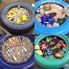 Preschool Room Layout, Preschool Rooms, Nursery Activities, Eyfs Outdoor Area, Outdoor Play Areas, Outside Playground, Diy Playground, Preschool Garden, Sensory Garden