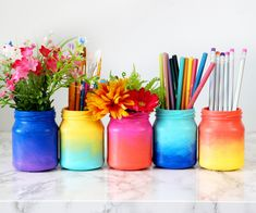 3 Ways to Decorate Glass Jars