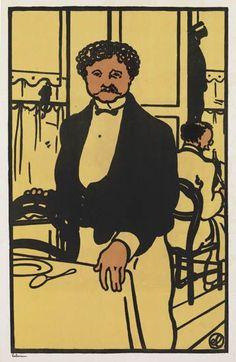 JEAN-ÉMILE LABOUREUR Ernest, Garçon de Restaurant. 1902-11