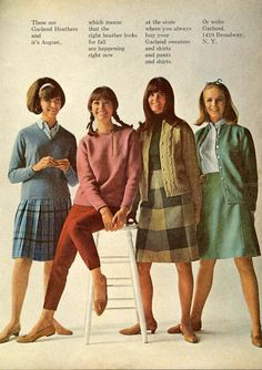 September 1965 Garland sweaters and skirts//***pre london look!***