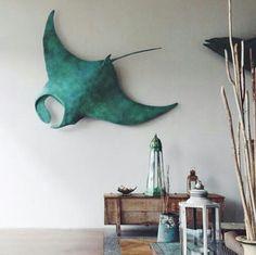 Manta Ray wall sculpture