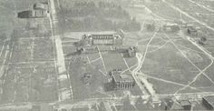 Airborne view of campus 1927.  From the 1928 Oregana (University of Oregon yearbook).  www.CampusAttic.com