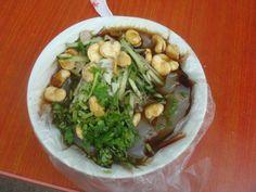凉粉,liangfen,we usually eat it in summer,and your mouth will feel cool