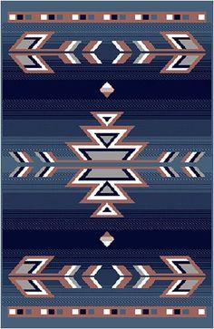 Home Dynamix Premium Native American Southwestern Area Rug Blue, 2' X 3:Amazon:Furniture & Decor